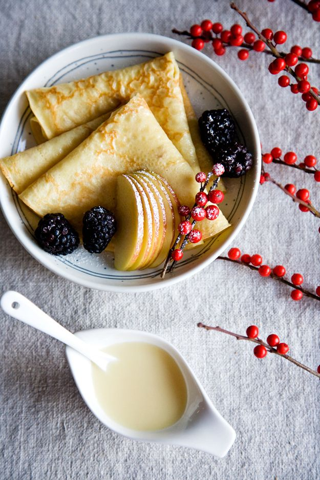 Eggnog Crepes | 37 Delicious Things To Make For A Holiday Brunch