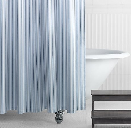This bathroom showers restoration hardware and shower curtains