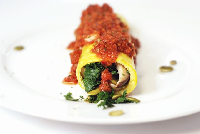 Our Earth Land: Spicy Kale and Mushroom 'Cannelloni' -replace pasta ...