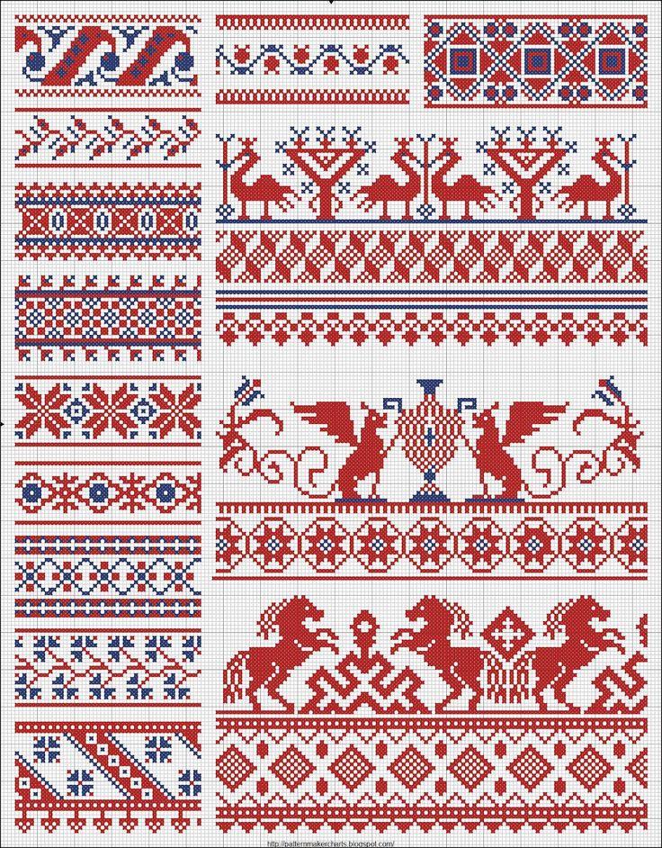 Орнаменты русской вышивки 34