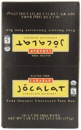 LARABAR Jocalat, Chocolate Hazelnut, 1.7 Ounce Bars (Pack of 16 ...