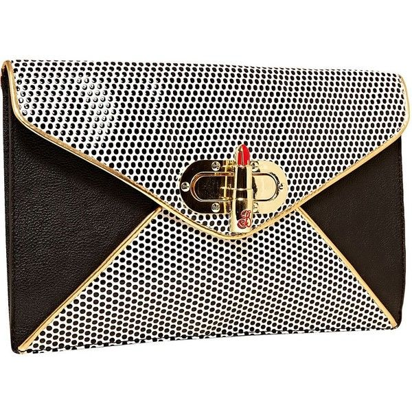 Betsey Johnson Super Betsey Clutch found on Polyvore