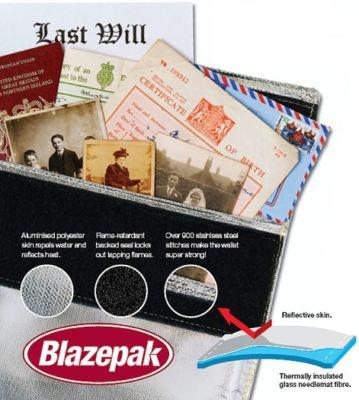 fire wallet keep documents into fire resistant envelope # blazepak