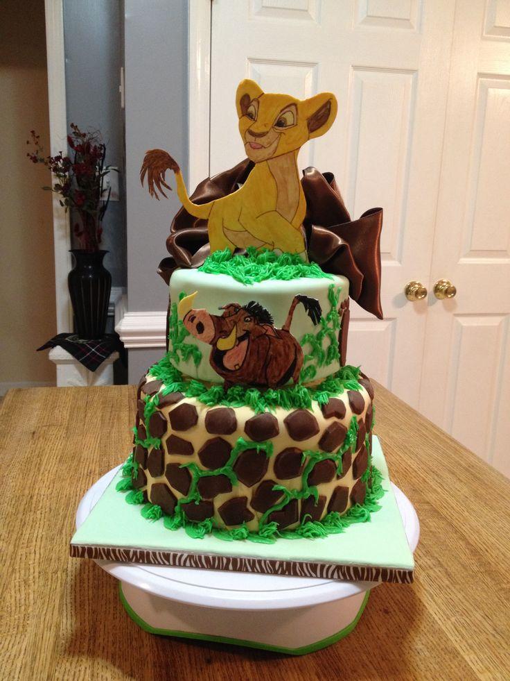 lion king baby shower cake kaden pinterest