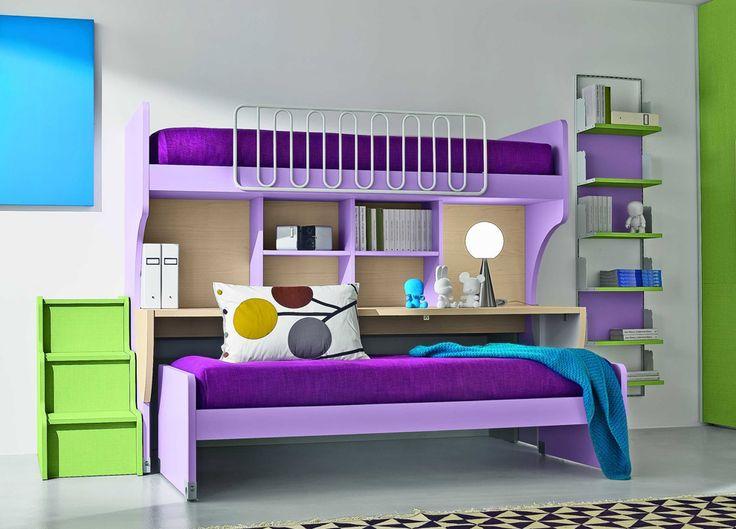 Purple bunk 990 712 dream bedrooms pinterest - Sofa bed childrens bedroom ...