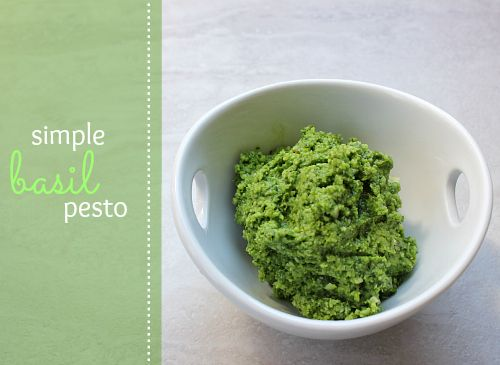 love, laurie: simple basil pesto | yummy food | Pinterest