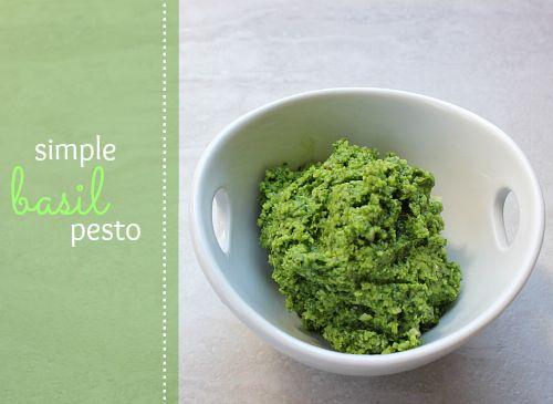 love, laurie: simple basil pesto | yummy food | Pinterest