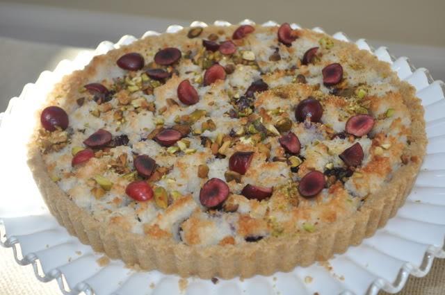 Cherry Macaroon Tart | Desserts | Pinterest