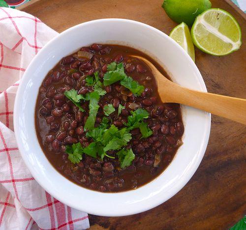 Vegan spicy citrusy black beans from The Backyard Lemon Tree
