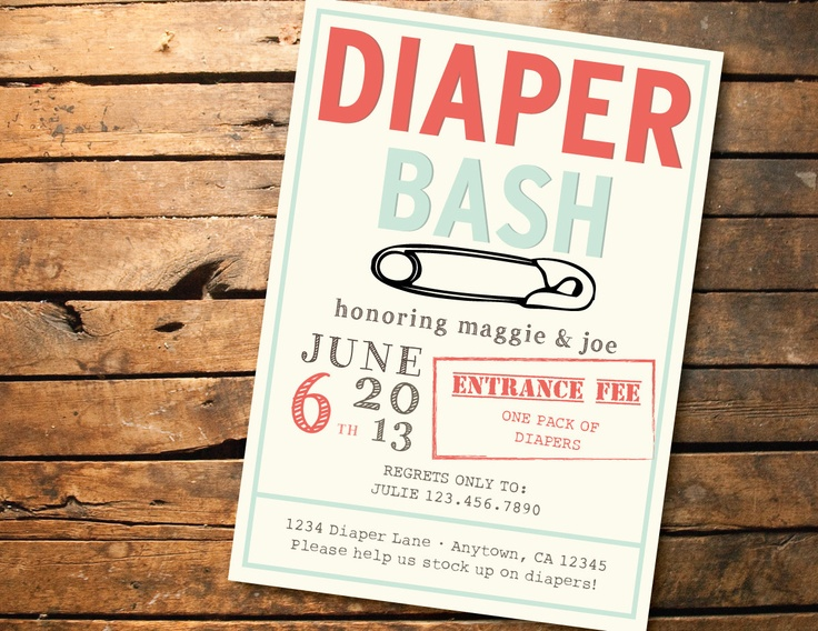 Bash Invitations Diaper Bash Invitation by