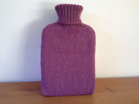 Knitted Hot Water Bottle Cover Pattern : Plain Hot Water Bottle Cover knitting pattern