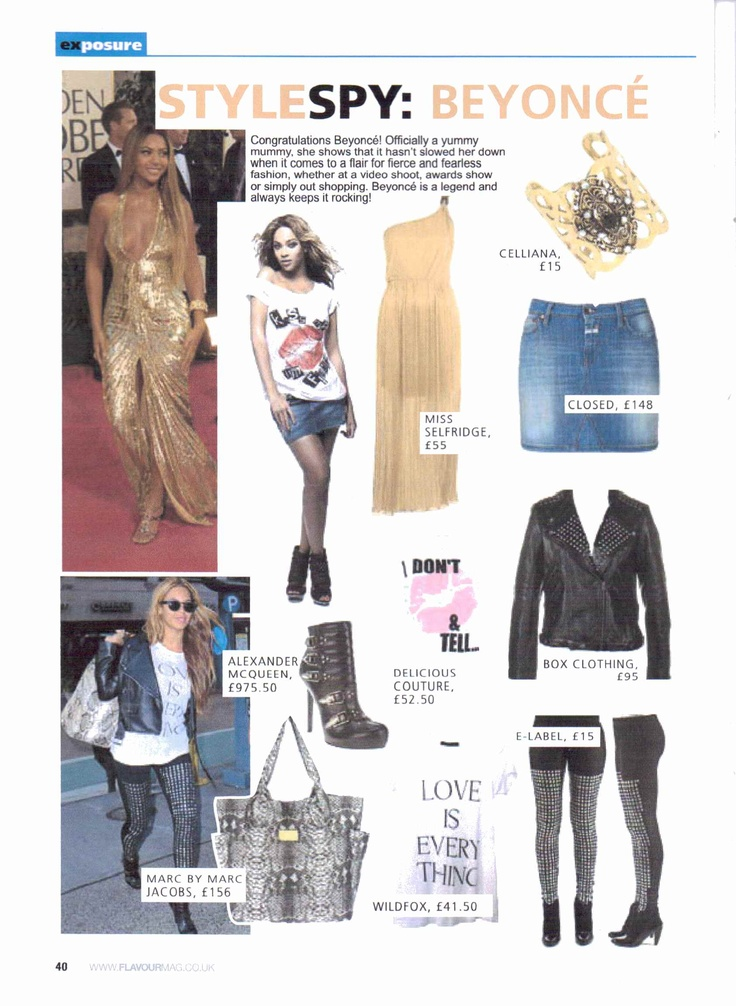 'Get beyonces style' Celliana cuff in Flavour magazine