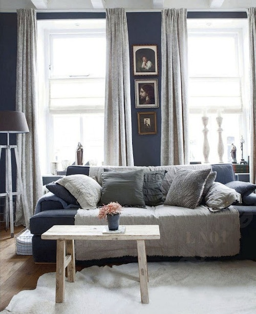 Blue And Grey Living Room Couch Decore Pinterest