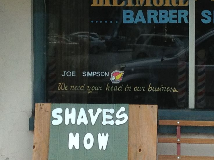 Barber Shop Asheville Nc : You want my WHAT in your business???? Maybe rethink that motto.
