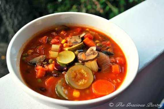 Clean Eating Minestrone Soup (Makes 34 servings) You need a BIG pot ...