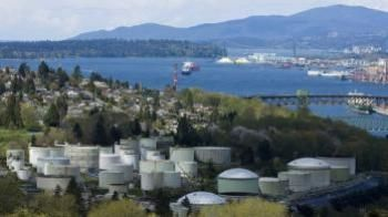The terminal of Kinder Morgan's Trans Mountain pipeline in Burnaby, B.C.