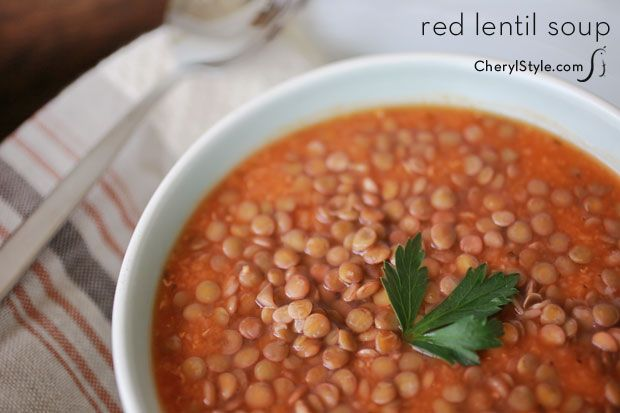 healthy red lentil amp vegetable soup recipe on www cherylstyle com