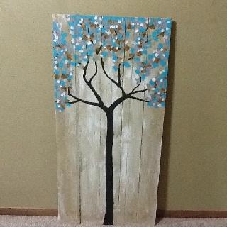 Pallet art tree