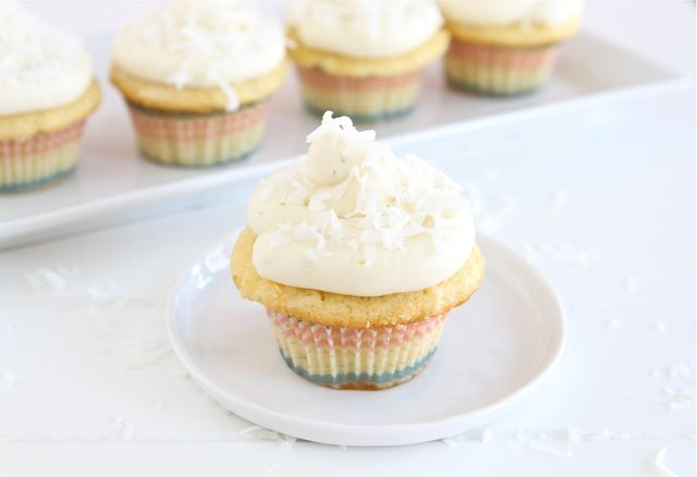 Coconut Lime Cupcakes - I must try!! from @Maria (Two Peas and Their ...
