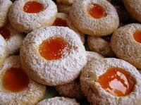 Walnut-Apricot Jam Thumbprint Cookies ----OR---- Hazelnut, Pecan ...