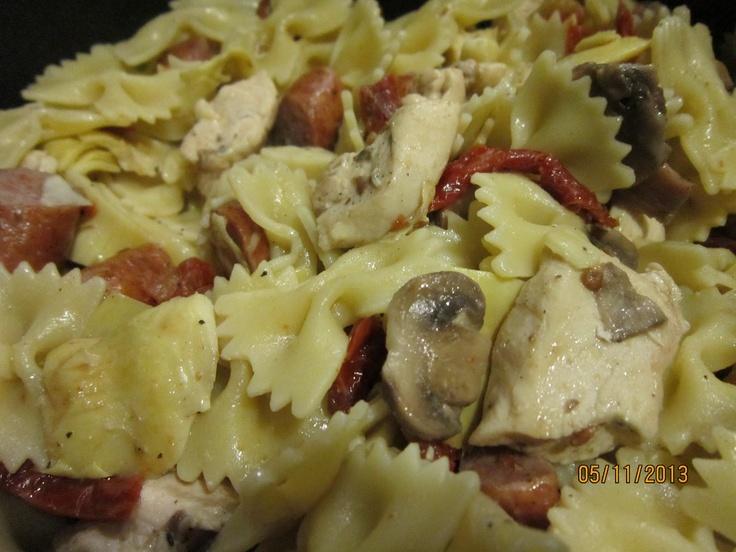 Chicken Artichoke Pasta | Blog log | Pinterest
