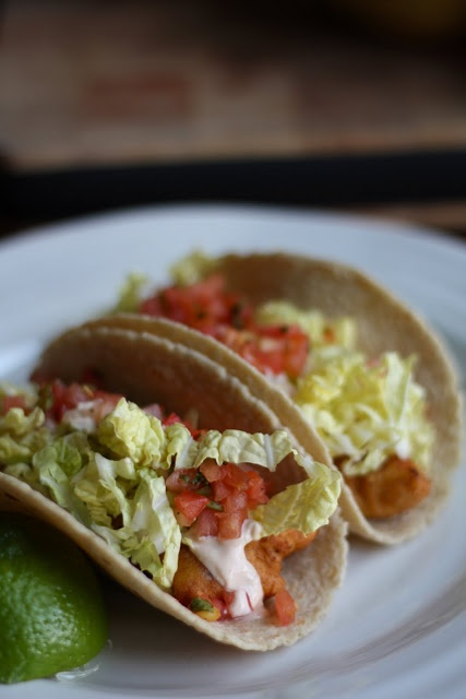 Fish Tacos with Chipotle-Lime Dressing | The Flourishing Foodie
