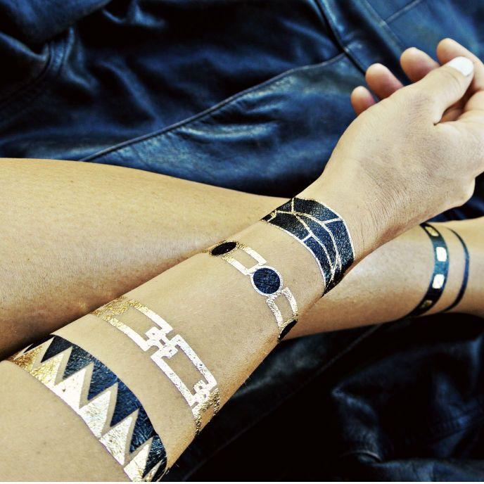 Flash Tattoos - metallic temporary tattoos that look like ...
