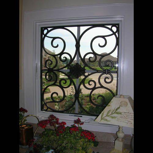 Faux Wrought Iron Window Treatment House Ideas Pinterest