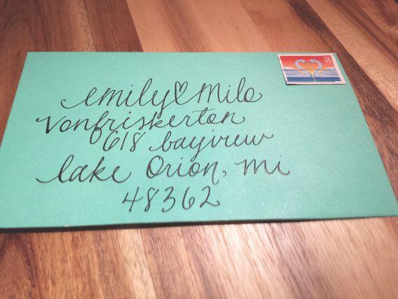 Modern Handwritten Calligraphy Addressed Envelopes