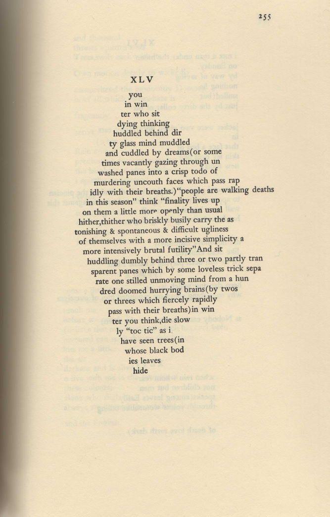 ee cummings poetry style