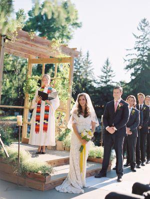 chic casual backyard wedding