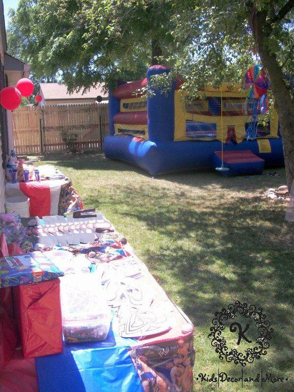 diy backyard d cor outdoor party lego wwe birthday pinterest