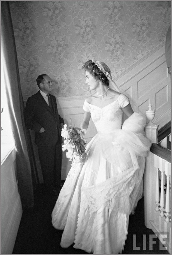 Jackie kennedy on her wedding day the women pinterest for Jackie kennedy wedding dress designer