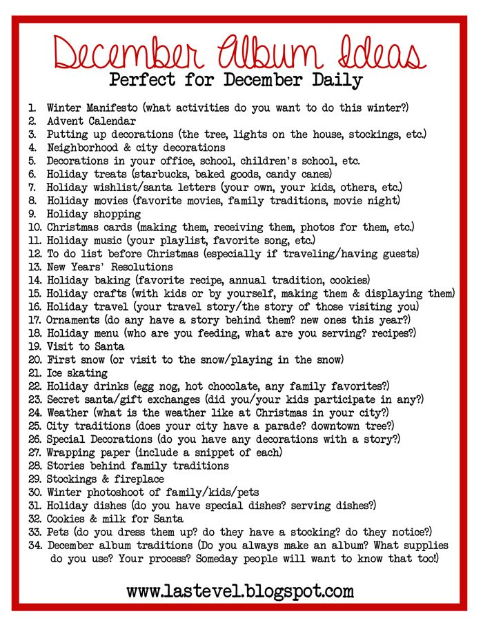 My Passion Is...: December Daily 2013: Page Ideas