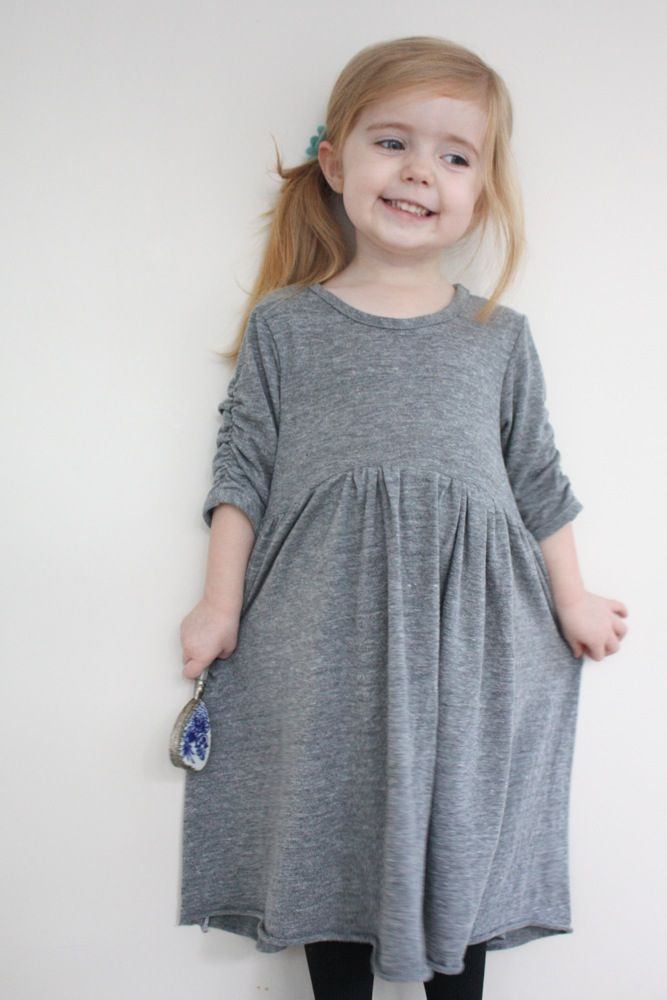 simple knit dress pattern Fibre and fabric Pinterest