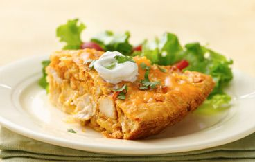 Impossibly Easy Chicken Taco Pie Recipe | cooking | Pinterest
