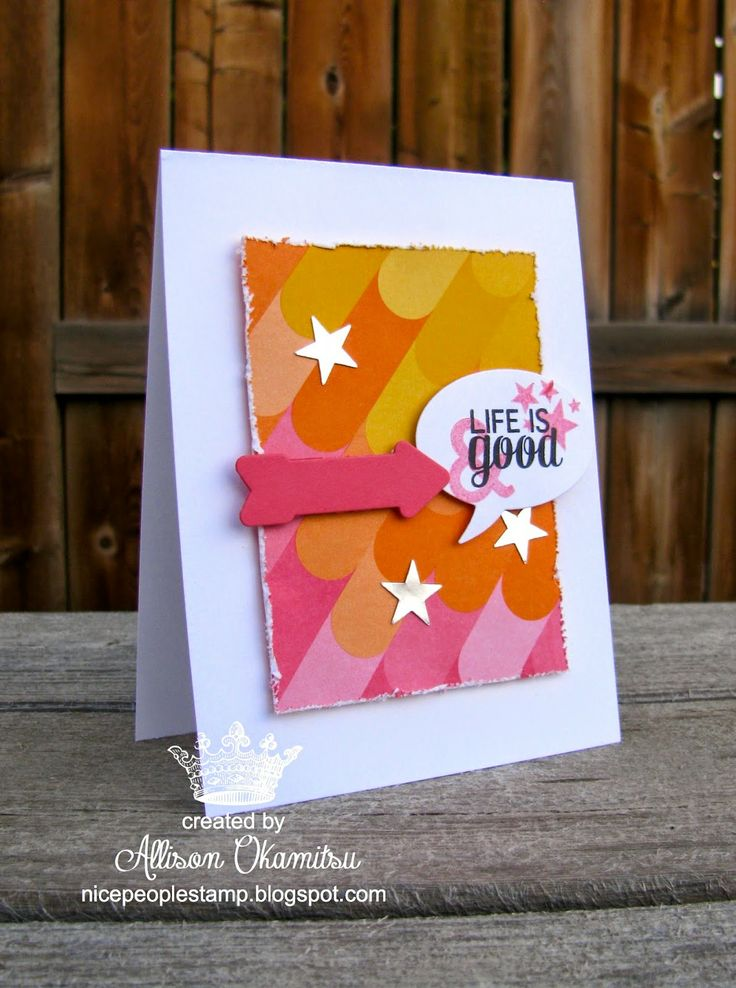 nice people STAMP!: Project Life Card