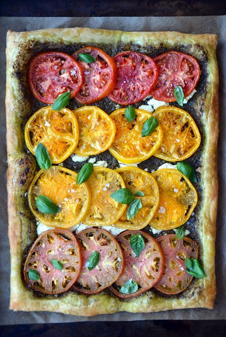 Heirloom Tomato and Goat Cheese Tart. | Food | Pinterest