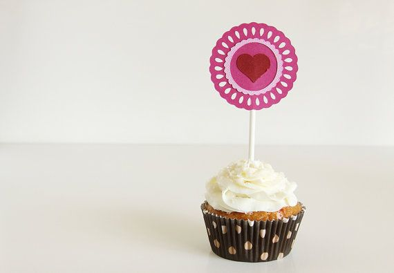 valentine cupcake topper free printable
