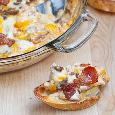 Bacon Double Cheese Burger Dip | Appetizers/Finger Foods | Pinterest