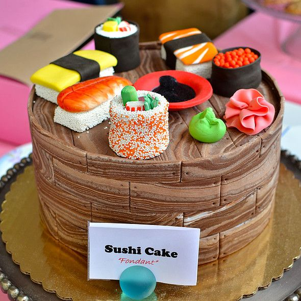 Sushi Cake | (Cup)Cakes | Pinterest