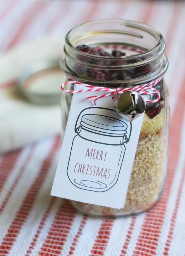 Gfts in a jar! These steel cut oats are perfect and the label is ...