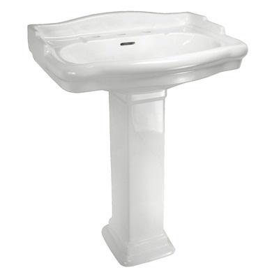 English Turn Pedestal Leg for Bathroom Sink (Leg Only)