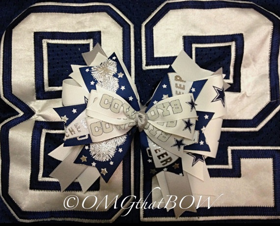 OMG that COWBOYS Over the top boutique bowlayered by OMGthatBOW, $15.00