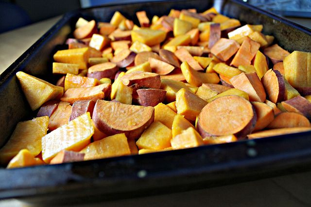 Spiced Chipotle Honey Chicken Breasts with Sweet Potatoes and Winter ...