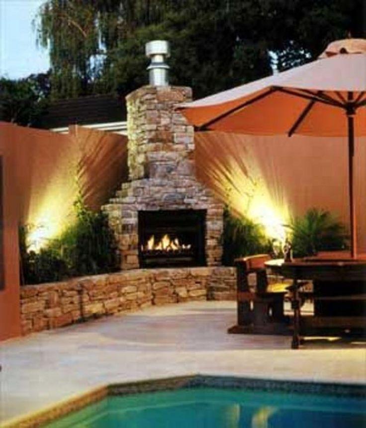 Fireplace chimeneas hornos de barro y piedra parrillas - Chimeneas de barro ...