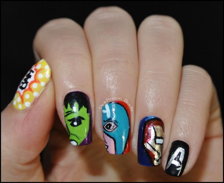 Avengers / Comics / Marvel Nails  Nail Art  Pinterest