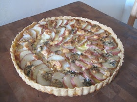 blue cheese and red potato tart (delicious for brunch)