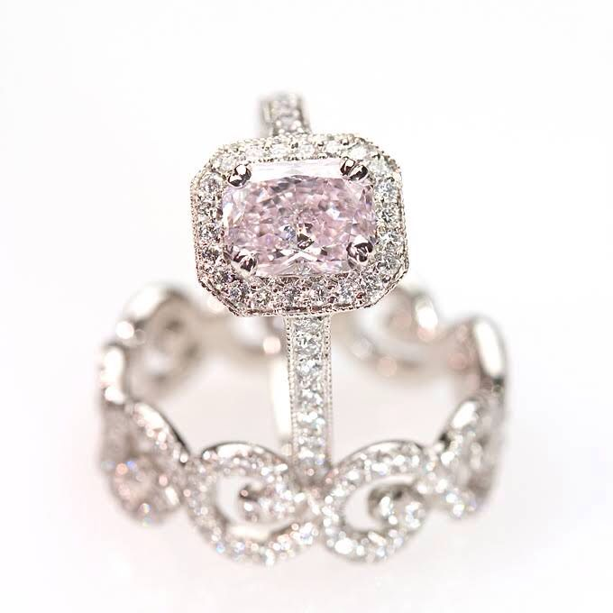 Pin by briianna marie on every girl has her own fantasy for Pink diamond wedding rings