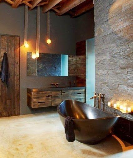 Decoracion Baños Hogar:Rustic Modern Bathroom